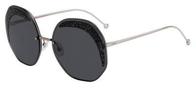 Fendi 0FF 0358 Sunglasses FF0358/S 0KB7/IR Gray Gray Blue lens Size 63mm