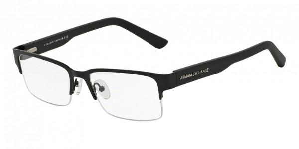 Exchange Armani AX1014 6063 Satin Black/Matte Black, Size 53mm Eyeglasses