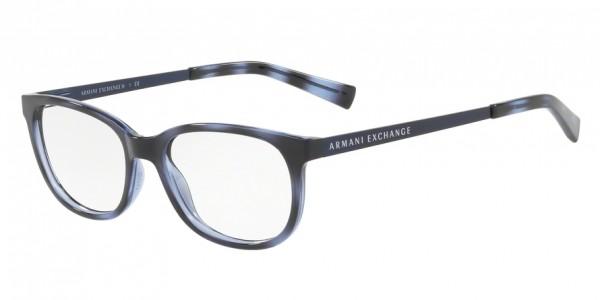 Exchange Armani AX3005F 8206 Havana Blue Twilight, Size 53mm Eyeglasses