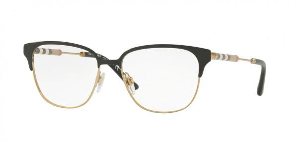 Burberry BE1313Q 1237 Black/Light Gold, Size 53mm Eyeglasses