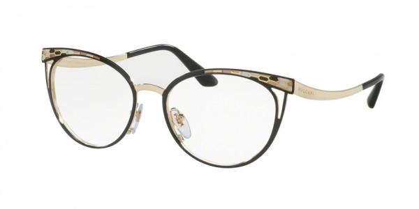 Bvlgari BV2186 2018 Black/Pale Gold, Size 53mm Eyeglasses