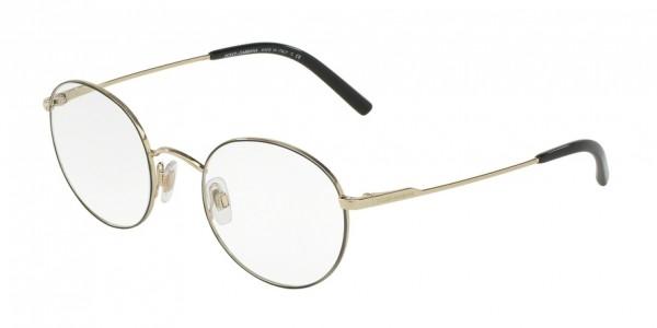 Dolce & Gabbana DG1290 1305 Matte Black/Pale Gold, Size 48mm Eyeglasses
