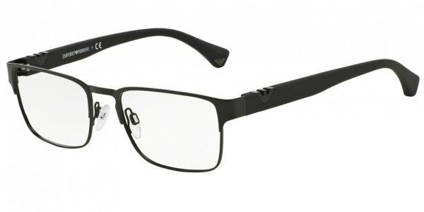 Emporio Armani EA1027 3001 Matte Black, Size 55mm Eyeglasses