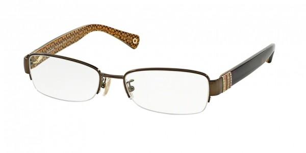 Coach CECILY HC5027B 9094 Dark Brown/Dark Tortoise, Size 52mm Eyeglasses