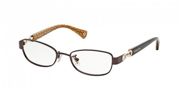 Coach FAINA HC5054 9187 Satin Brn/Dark Tort Gold Sig C, Size 49mm Eyeglasses