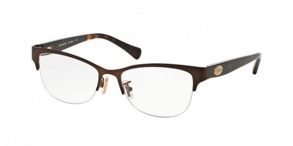 Coach HC5066 9155 Satin Brown/Dark Tortoise, Size 53mm Eyeglasses