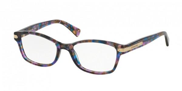 Coach HC6065 5288 Confetti Purple, Size 51mm Eyeglasses