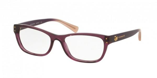 Coach HC6082 5351 Crys Plum/Crys Plum Blush Grad, Size 53mm Eyeglasses