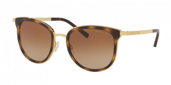 Michael Kors ADRIANNA I MK1010 110113 Dk Tortoise/Gold Frame/Brown Gradient Lens, Size 54mm Sunglasses
