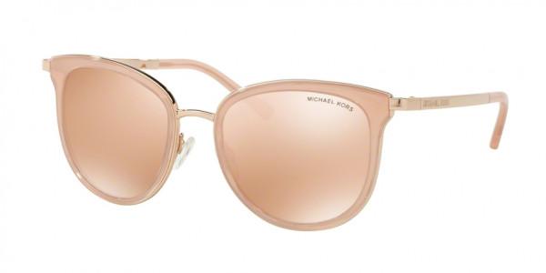 Michael Kors ADRIANNA I MK1010 1103R1 Pink/Rose Gold Frame/Rose Gold Flash Lens, Size 54mm Sunglasses
