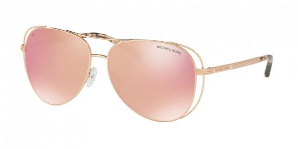 Michael Kors LAI MK1024 1174N0 Shiny Rose Gold - Tone Frame/Rose Gold Mirror Polar Lens, Size 58mm Polarized Sunglasses