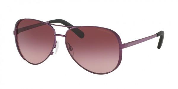 Michael Kors CHELSEA MK5004 11588H Plum Frame/Burgundy Gradient Lens, Size 59mm Sunglasses