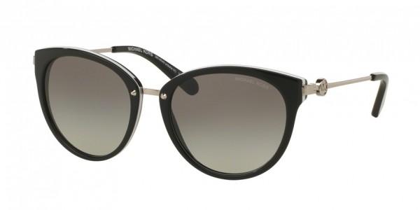 Michael Kors ABELA III MK6040 312911 Black/White Frame/Grey Gradient Lens, Size 55mm Sunglasses