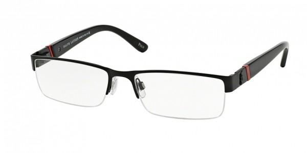 Polo PH1117 9038 Matte Black, Size 58mm Eyeglasses