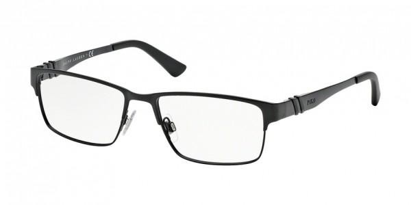 Polo PH1147 9038 Matte Black, Size 54mm Eyeglasses