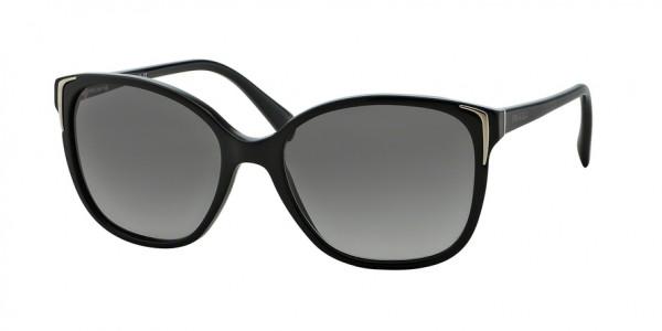 Prada CONCEPTUAL PR 01OS 1AB3M1 Black Frame/Grey Gradient Lens, Size 55mm Sunglasses