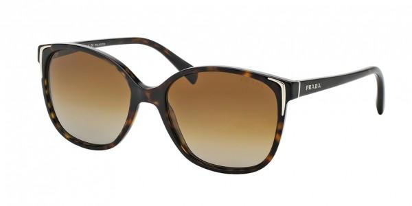 Prada CONCEPTUAL PR 01OS 2AU6E1 Havana Frame/Polar Brown Gradient Lens, Size 55mm Polarized Sunglasses