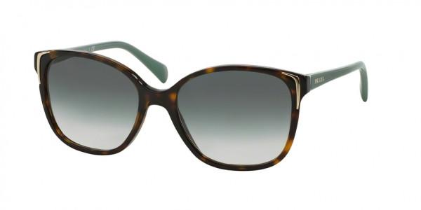 Prada CONCEPTUAL PR 01OSA 2AU1E0 Havana Frame/Green Gradient Lens, Size 55mm Sunglasses