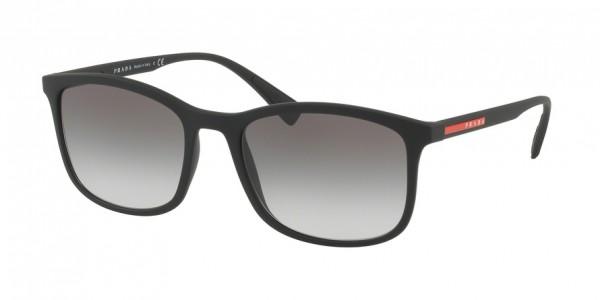 Prada Linea Rossa LIFESTYLE PS 01TS DG00A7 Black Rubber Frame/Grey Gradient Lens, Size 56mm Sunglasses