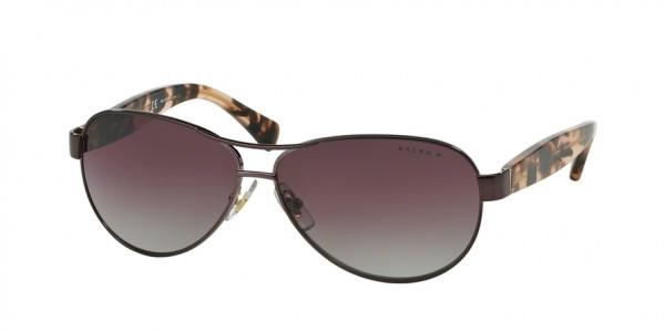 Ralph RA4096 RA4096 249/62 Rose Frame/Purple Gradient Polarized Lens, Size 59mm Polarized Sunglasses