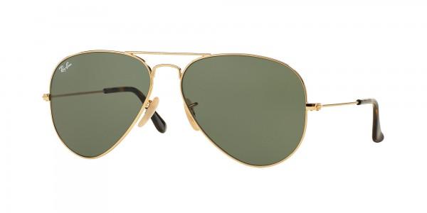 Ray-Ban AVIATOR LARGE METAL RB3025 181 Gold Frame/Dark Green Lens, Size 58mm Sunglasses