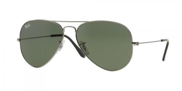 Ray-Ban AVIATOR LARGE METAL RB3025 W0879 Gunmetal Frame/Grey Green Lens, Size 58mm Sunglasses