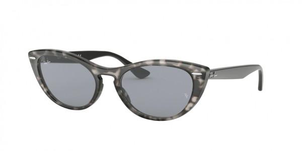 Ray-Ban RB4314N 1250Y5 Havana Grey Frame/Blue Mir Gold Lens, Size 54mm Sunglasses