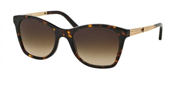 Ralph Lauren DECO EVOLUTION RL8113 500313 Dark Havana Frame/Brown Gradient Lens, Size 54mm Sunglasses