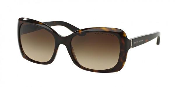Ralph Lauren RL8134 500313 Dark Havana Frame/Brown Gradient Lens, Size 56mm Sunglasses