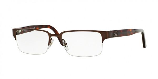 Versace VE1184 1269 Brushed Brown, Size 53mm Eyeglasses