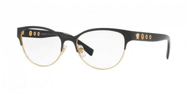 Versace VE1237 1342 Black/Gold, Size 53mm Eyeglasses