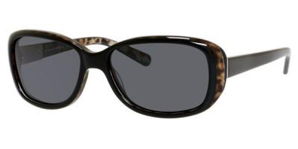 Banana Republic BN Amie/P/S DP6P/RA Black Animal  Frame/Gray Polarized Lens Lens, Size 54mm Polarized Sunglasses