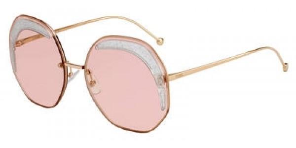 Fendi 0FF 0358 Sunglasses FF0358/S 01N5/U1 Coral Red lens Size 63mm