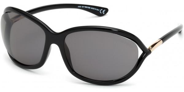 Tom Ford FT0008 01D Shiny Black Frame/Polarized Grey Lens, Size 61mm Polarized Sunglasses
