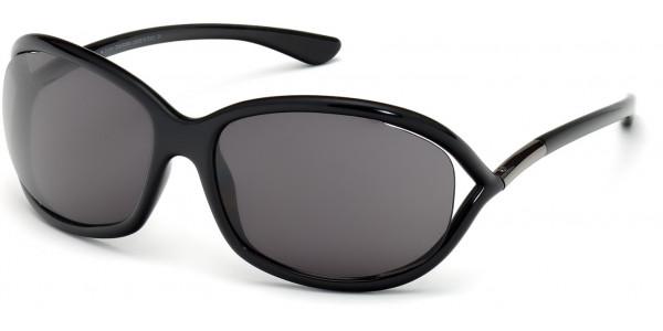 Tom Ford FT0008 199 Shiny Black Frame/Smoke Lens, Size 61mm Sunglasses