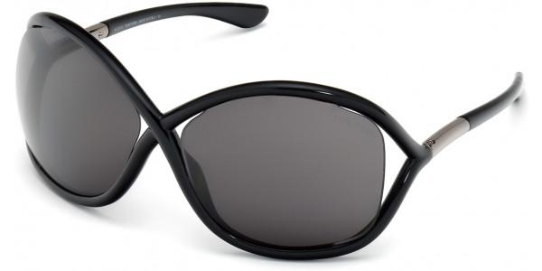 Tom Ford FT0009 199 Shiny Black Frame/Smoke Lens, Size 64mm Sunglasses