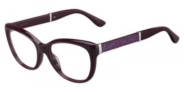 Jimmy Choo JMC Jc 179 0172 Plum Glitter, Size 53mm Eyeglasses