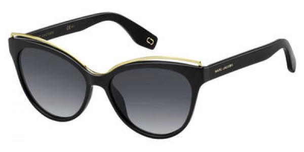 Marc Jacobs MJ 301/S 0807/9O Black  Frame/Multipink Cp Pz Lens, Size 55mm Sunglasses